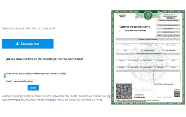 imprimir acta nacimiento certificada